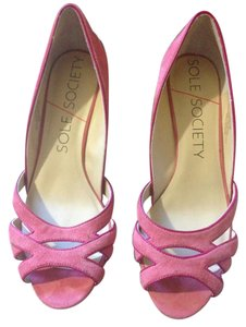Sole Society Pink Wedges