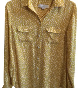 Ann Taylor LOFT Button Down Shirt Yellow