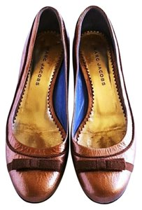 Marc Jacobs Bronze Patent Leather 7.5 Copper Brown Flats