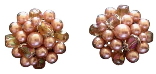 Preload https://img-static.tradesy.com/item/19259728/pink-vintage-1950-s-faux-pearl-and-beaded-clip-marked-japan-earrings-0-3-540-540.jpg