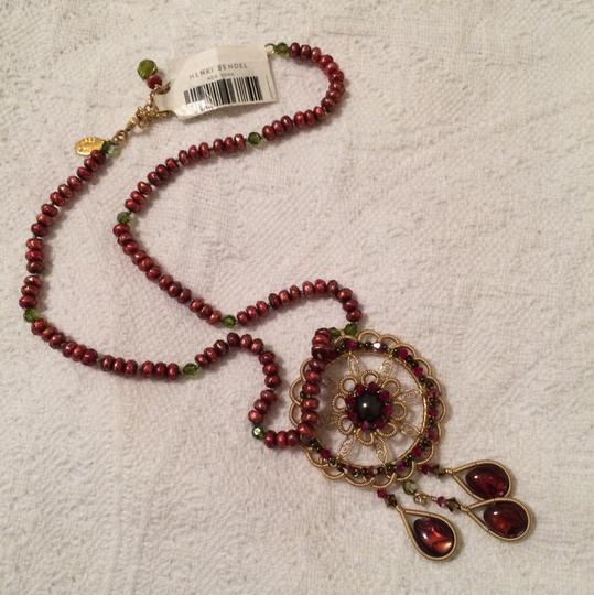 Miguel Ases Beaded Necklace With Pendant