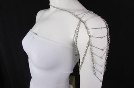 Other Women Silver One Side Shoulder Body Chain Jewelry M.j. Style