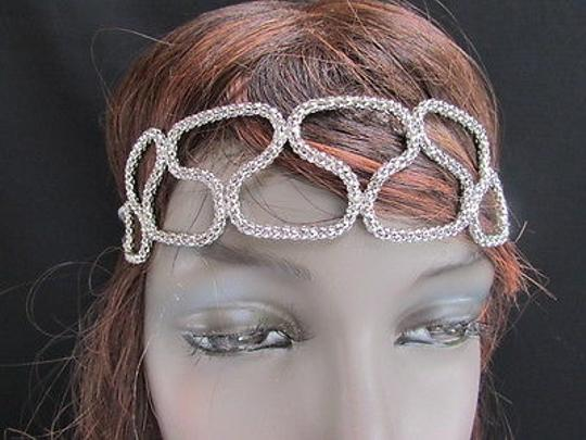 Other Women Silver Head Chain Elegant Style Fashion Jewerly Big Slim Waves Design