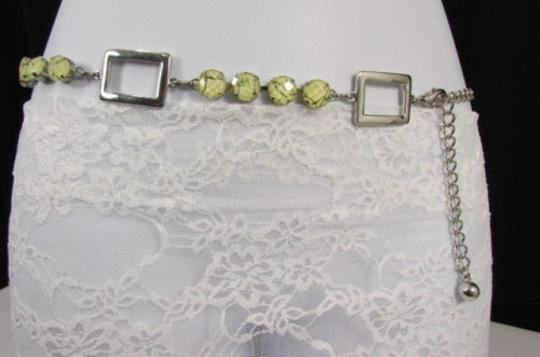Other Women Silver Metal Chains Fashion Belt Multi Big Rhinestones 29-43