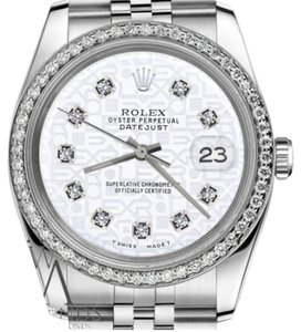 Rolex Ladies31mm Datejust White Color Jubilee Dial with Diamonds Watch