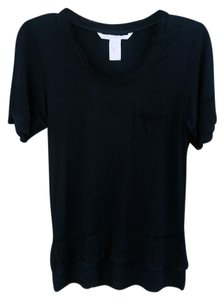 Diane von Furstenberg Lace Pocket Dvf T Shirt Black