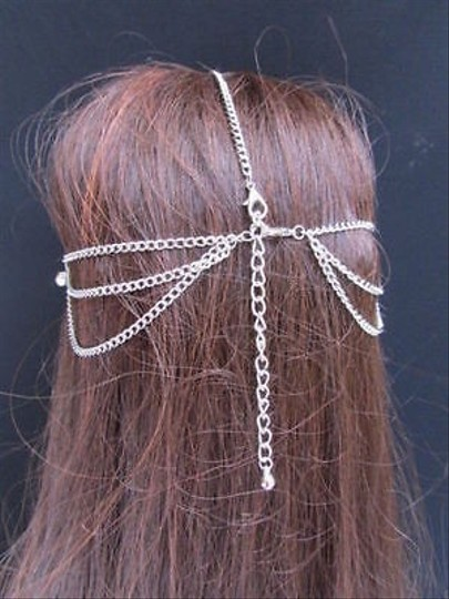 Other Women Silver Head Metal Chain Fashion Jewelry Infinity Rhinestone Accesory