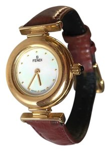 Fendi FENDI Gold w/ Brown Leather band Ladies Watch