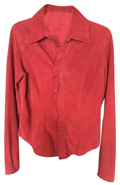 Preload https://img-static.tradesy.com/item/19260607/red-leather-blouse-size-4-s-0-1-650-650.jpg