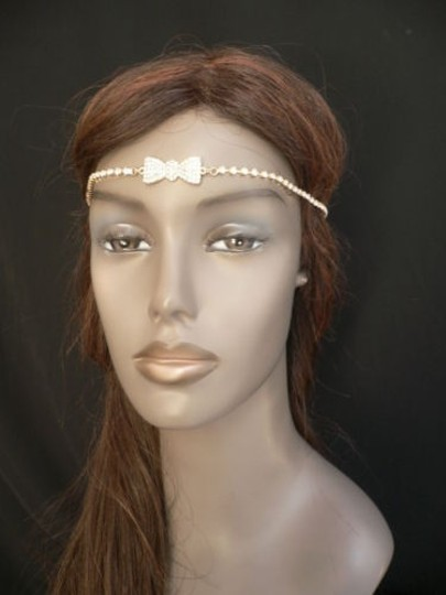 Other Women Gold Metal Bow Head Band Rhinestones Circlet Fashion Jewelry Image 4