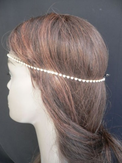 Other Women Gold Metal Bow Head Band Rhinestones Circlet Fashion Jewelry Image 5