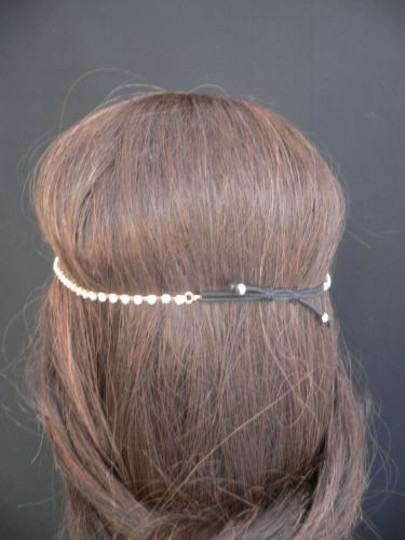 Other Women Gold Metal Bow Head Band Rhinestones Circlet Fashion Jewelry Image 7