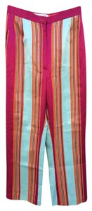 Jacques Fath Striped Vintage Trouser Pants Multi