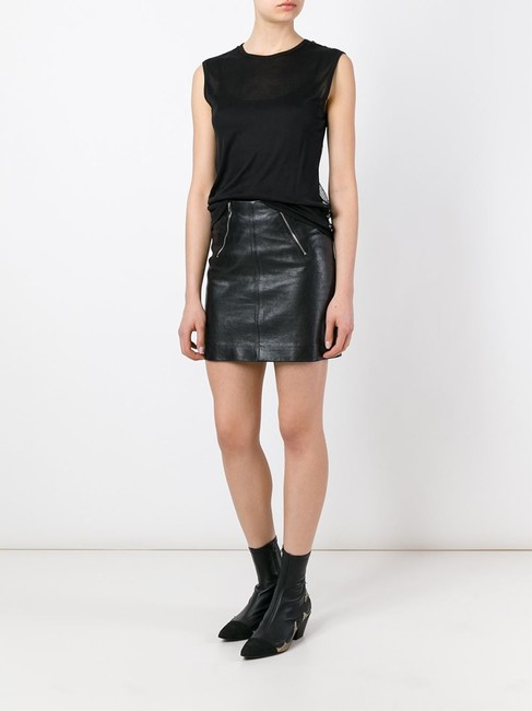 Saint Laurent Ysl Sleeveless Tank Mesh Top Black
