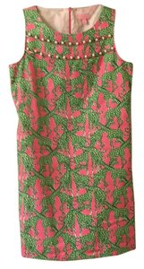 Lilly Pulitzer short dress Lime green/ Pink/ White on Tradesy