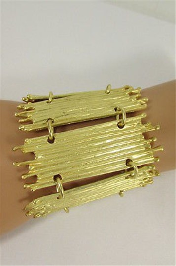 Other Women Wide Metal Bamboo Plates Jewelry Coin Gold Silver
