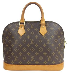 Louis Vuitton Monogrammed Satchel in brown