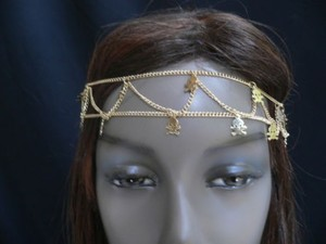 Other Women Gold Mini Metal Skulls Two Rows Head Chain Jewelry