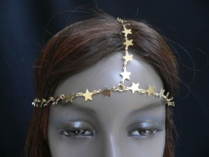 Women Gold Metal Trendy Stars Head Chain Grecian Circlet Fashion Jewelry
