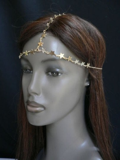 Other Women Gold Metal Trendy Stars Head Chain Grecian Jewelry Image 11