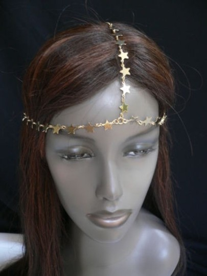 Other Women Gold Metal Trendy Stars Head Chain Grecian Jewelry Image 2