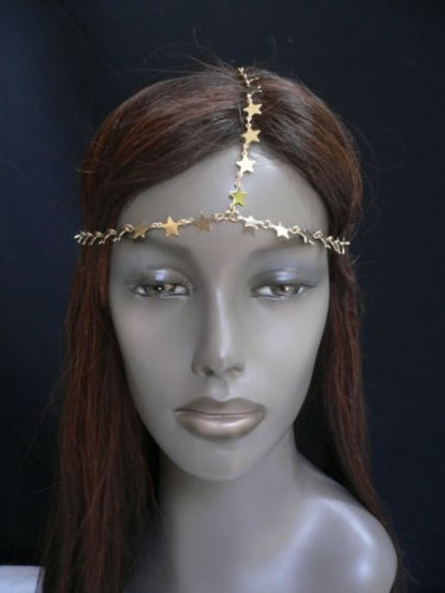 Other Women Gold Metal Trendy Stars Head Chain Grecian Jewelry Image 6