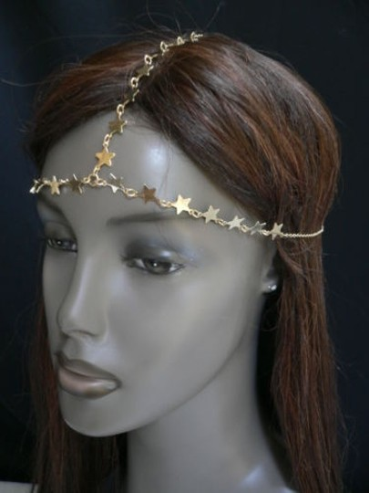 Other Women Gold Metal Trendy Stars Head Chain Grecian Jewelry Image 7