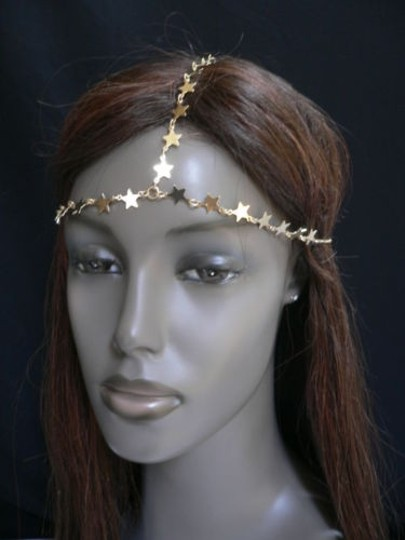 Other Women Gold Metal Trendy Stars Head Chain Grecian Jewelry Image 9