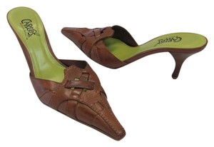 Carlos by Carlos Santana Leather Size 7.50 M (usa) Light Brown Mules