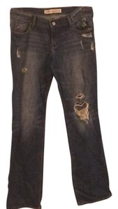 Hollister Distressed Straight Leg Straight Pants