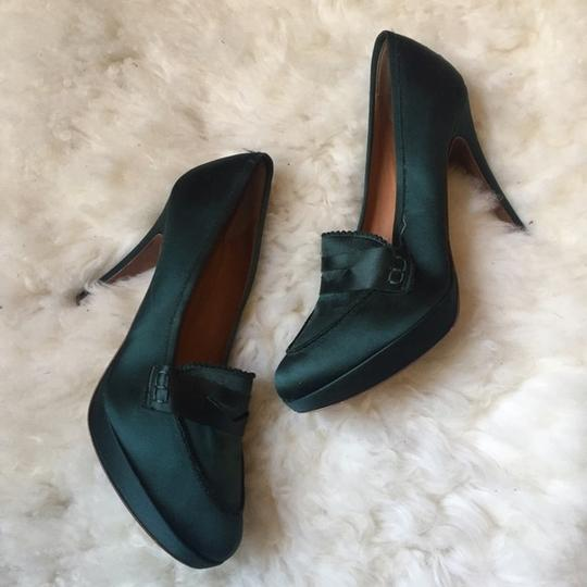 J.Crew Collection Hunter Satin Heels Menswear green Pumps