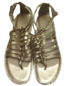 Coach Gillian Leather gold Sandals