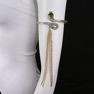 Other Women Silver Gold Metal Fashion Snake Bracelet Arm Fringe Chains Cuff Cobra