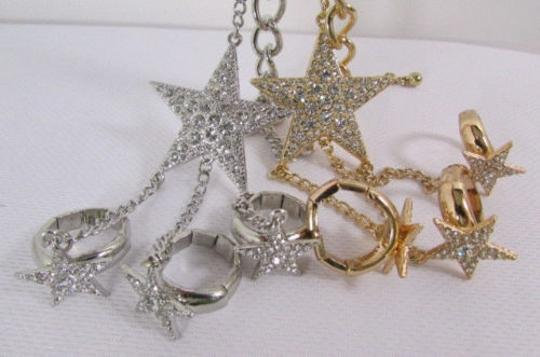 Other Women Big Star Bracelet Hand Chain Fashion Jewelry Slave Rings Gold Silver