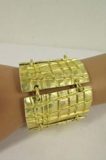 Other Women Gold Metal Plate Chains Bracelet Fashion Jewelry African Trible Style