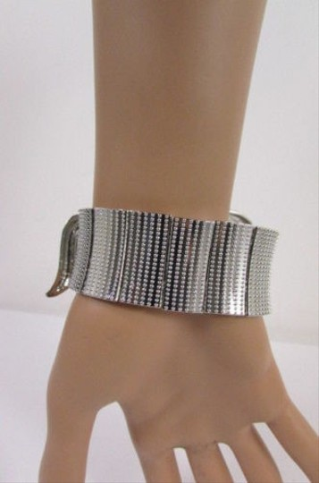 Other Women Silver Metal Pony Horse Elastic Bracelet Fashion Jewelry Rhinestones