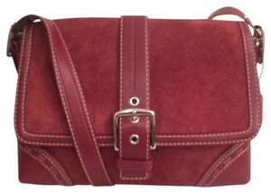 Coach Hobo Suede Leather Messenger Cross Body Bag
