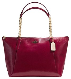 Coach Chain Large Tote in Burgundy