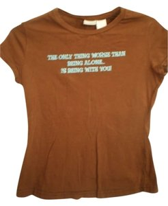 No Boundaries T Shirt brown