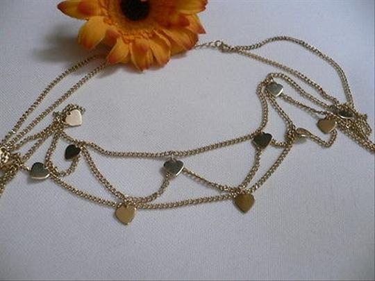 Other Women Gold Metal Hearts Rows Head Chain Fashion Jewelry Grecian