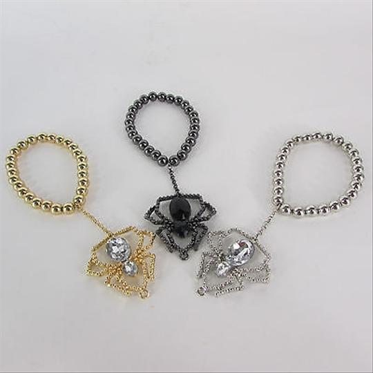 Other Women Black Silver Gold Metal Fashion Bracelet Arm Chains Chain Spider Beads