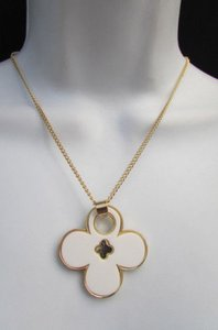 Women 11 Classic Fashion Necklace Gold Chain White Leopard Big Flower