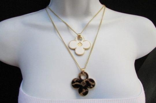 Other Women 11 Classic Fashion Necklace Gold Chain White Leopard Big Flower Image 6