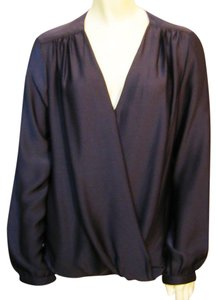 Prive Long Sleeve Wrap Top Plum