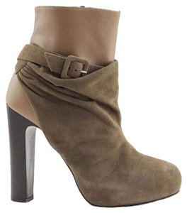 Herms Hermes Ankle Boot New Leather Taupe and Grey Boots