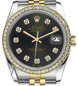 Rolex Ladies 31mm Datejust 2 Tone Chocolate Dial with Diamond Accent Watch