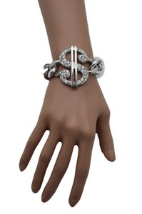 Women Silver Gold Bracelet Metal Chains Fashion Jewelry Dollar Sign Money
