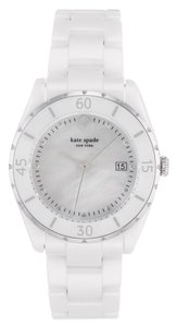 Kate Spade Women's White Ceramic Mother Of Pearl Dial Watch 1YRU0773