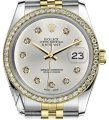 Rolex Ladies 31mm Datejust 2 Tone Silver Color Dial 10 Round Diamond Accent Watch Rolex Ladies 31mm Datejust 2 Tone Silver Color Dial 10 Round Diamond Accent Watch Image 1