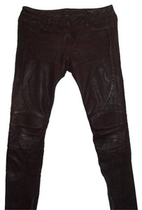 AllSaints Straight Pants Oxblood